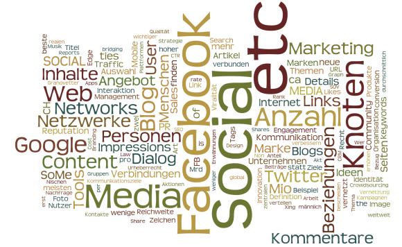 Word-Cloud von der Zusammenfassung CAS SMM