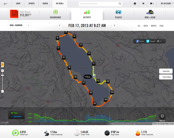 Nike+ Sportuhr mit GPS