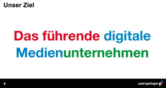 """Die """"Mission"""" von Axel Springer"""