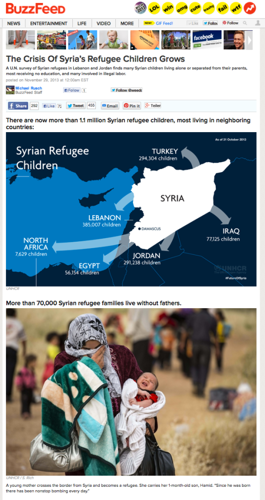 Buzzfeed-Artikel: The Crisis Of Syria's Refugee Children Grows