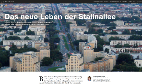 Das neue Leben der Stalinallee in Ber