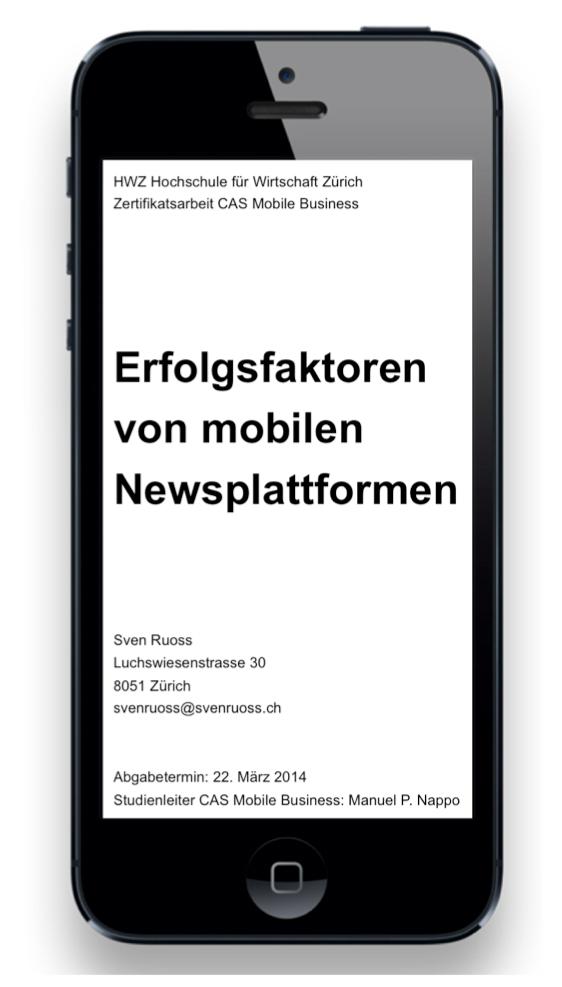 Erfolgsfaktoren von mobilen Newsplattformen
