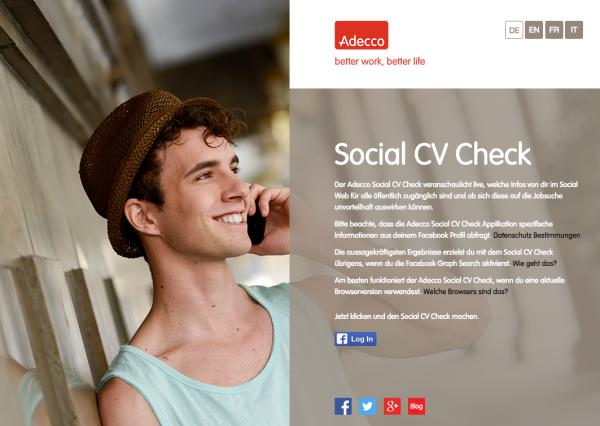Adecco Social CV Check