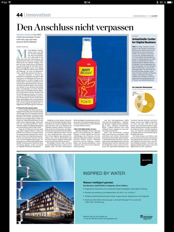 Handelszeitung_StudieHWZ